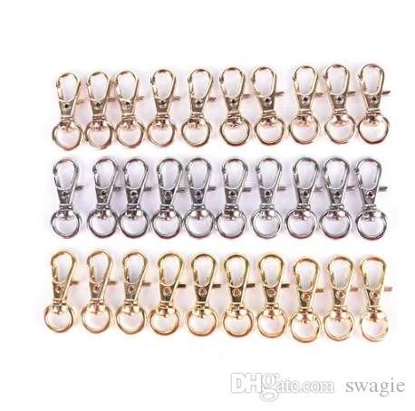 10 Pcs Mini Rotatif Boucle Crochet Homard Porte-clés En Métal HIgh Qualité Mousqueton Pour Sac Pièces Accessoires