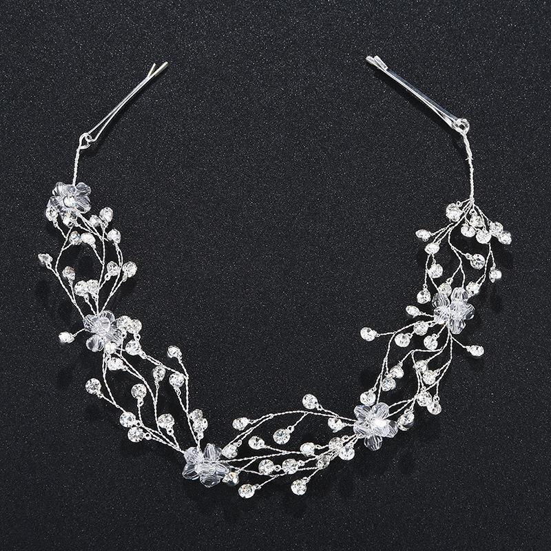 2018 Neueste Mode Kristall Strass Perlen Stirnbänder Hochzeit Frauen Haarschmuck Zubehör Haarteile Braut Tiara JCG060