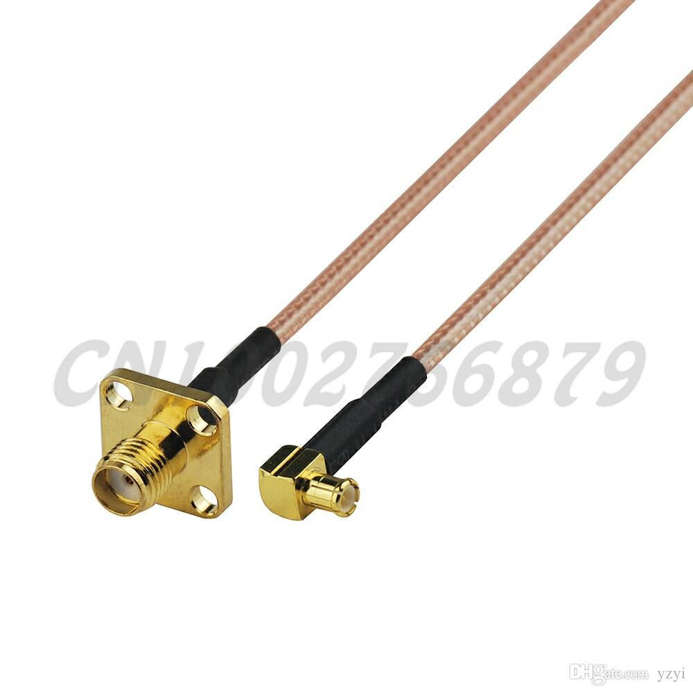 0,5 ft 15 cm RF MCX männlich rechtwinklig zu SMA Jack 4 Loch Schalttafeleinbau Gerade RG316 Pigtail Kabel Antenne Feeder kabelanordnung