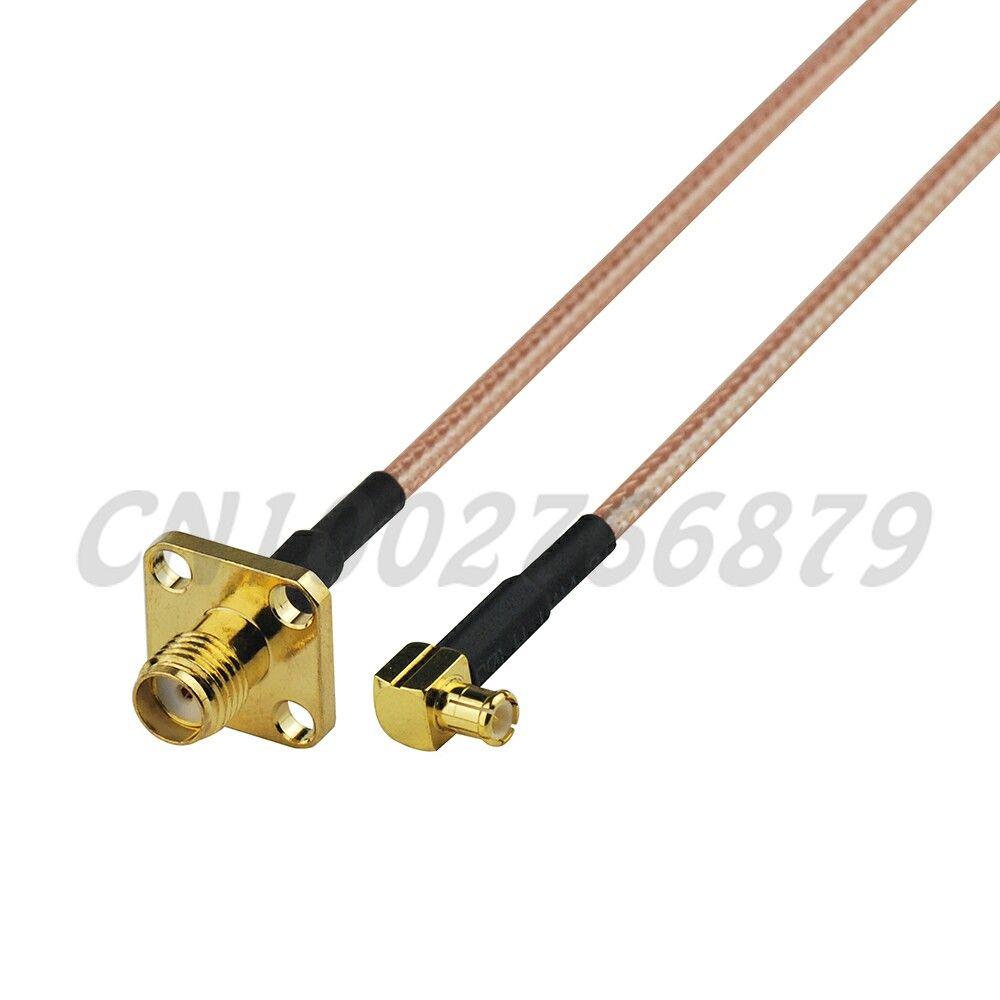 0.5ft 15 cm RF MCX erkek Sağ açı SMA Jack 4 Delik Paneli dağı Düz RG316 Pigtail Kablo Anten Besleyici kablo montaj