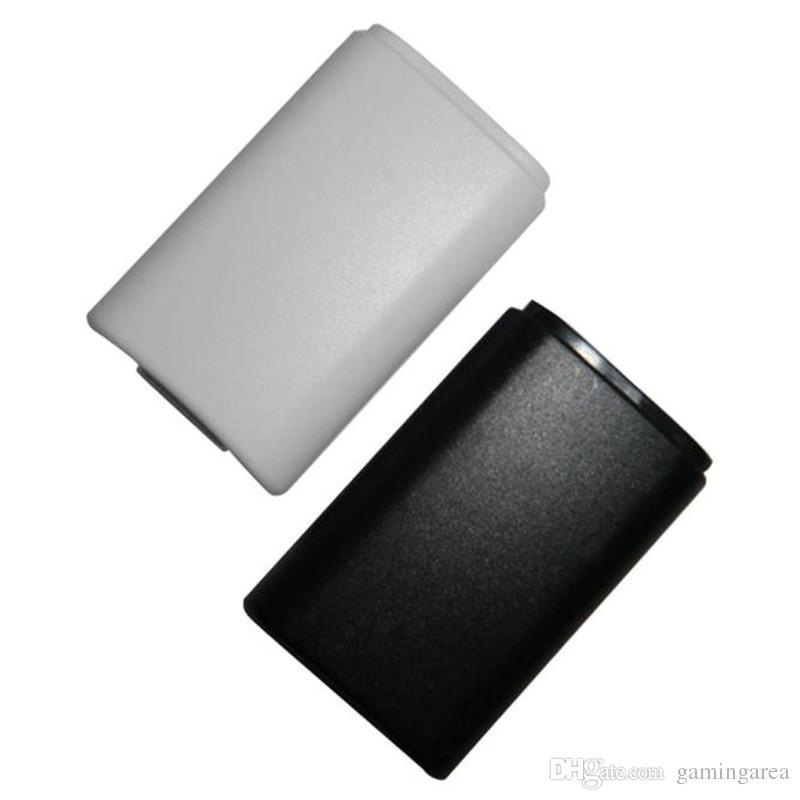 Weißer schwarzer Batterie-Satz-Rückseiten-Abdeckungs-Shell-Schild-Kastenfach Installationssatz für drahtlosen Prüfer Xbox 360 DHL FEDEX EMS GEBEN VERSCHIFFEN frei