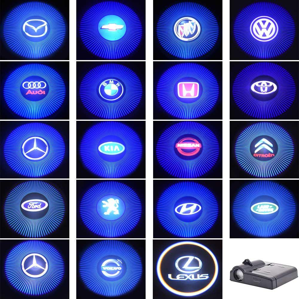 Battery Powered LED Car Weclome Door Light 3D Laser Projector Lamp Auto Car Brands Logo Shadow Light Decoration Lighting Bulb