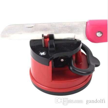 المطبخ شحذ أداة سكين مبراة مقص مطحنة الآمنة شفط الشيف الوسادة