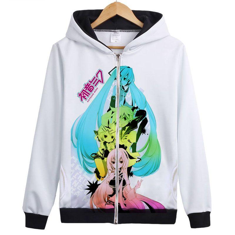 Vocaloid Matryoshka Hatsune miku Kagamine Len Rin Gumi Costume cosplay Top coat Giacca con cappuccio Felpe con cappuccio Unisex Anime Felpa con cappuccio