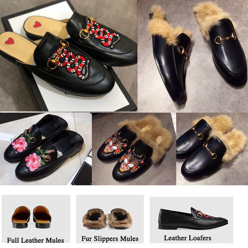 dos homens Slipper Princetown Moda mulas Flats Cadeia Senhoras calçados casuais Mulheres Homens Fur Chinelos Couro Verão sandália Praia Slides