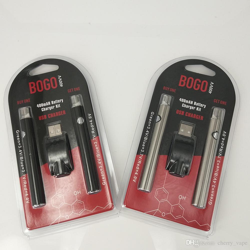 Batería Vape con Kits USB LO Batería Vaporizador O Pen 510 Vape Pen E Cigarettes Wax Pen 400 mah nudillos de latón Cartucho