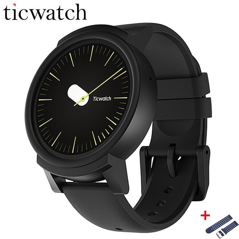 Orologio originale Ticwatch E Expres Smart Wear Android MT2601 Dual Core IP67 Impermeabile Bluetooth 4.1 WIFI GPS Smartwatch Phone