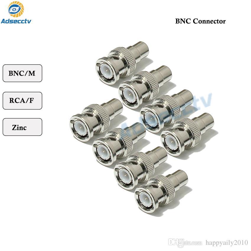 BNC Connertor BNC Macho Para RCA Fêmea Coax Adaptador de Conector de Cabo Para Acessórios de Segurança CCTV