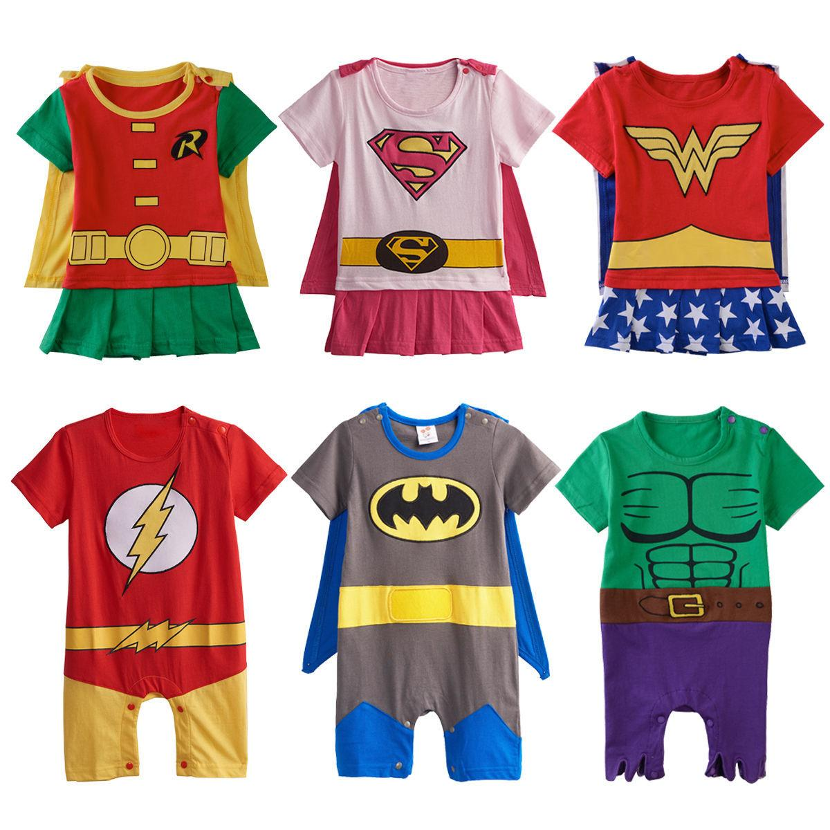 Baby Girl Supergirl Fancy Dressing Infant Halloween Costume Newborn Playsuit