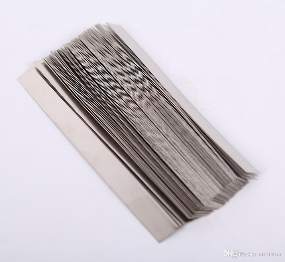 0.15mm x 5mm x 100mm 100pcs Pure Nickel Plate Strap Strip Sheets 99.96% for Battery Spot Welding Machine Welder Equipment Tools