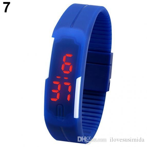 Bracelets Wrist Watches LED Watch Candy Silicone Rubber Touch Screen Waterproof Digital Watch Sports Watches Rubber Belt Silicone