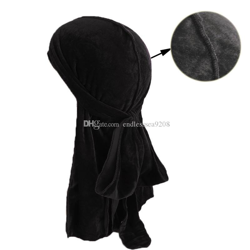 Muslim Men Women Bandana Turban Hat Wigs velvet doo Durags headwrap chemo cap Biker Headwear Headband Pirate Hair Accessories