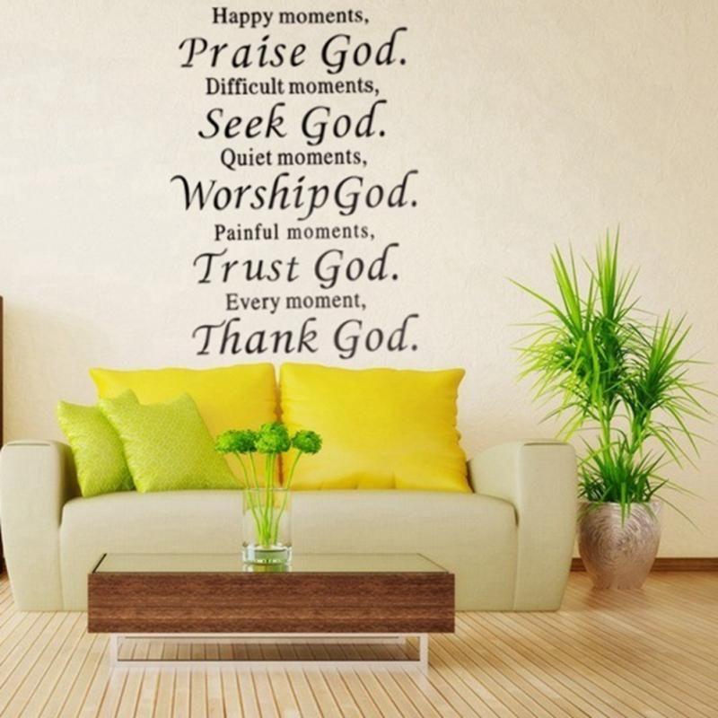 Acheter Heureux Moment Praise Bible Dieu Amovible Autocollant Phrase ...