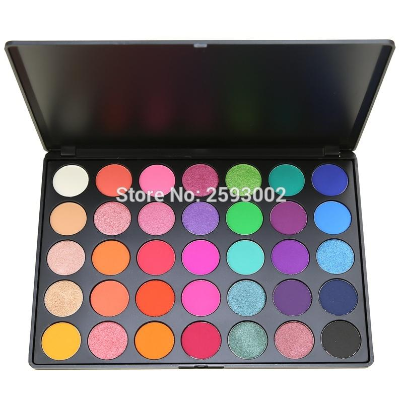 35 Color Eyeshadow Palette Gorgeous Silky Powder Professional Nature Makeup Pallete Smoky Warm Matte Shining Eye Shadow 35E#