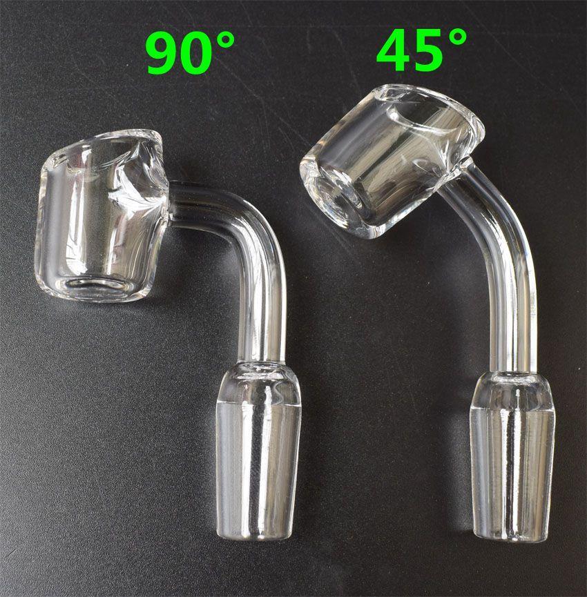 4mm dick 100% echt Quarz Banger Nagel 45/90 Grad weiblich männlich Schüssel 10mm 14mm 18mm Domeless Quarz Nagel Rauchen Schüssel Glasbongs