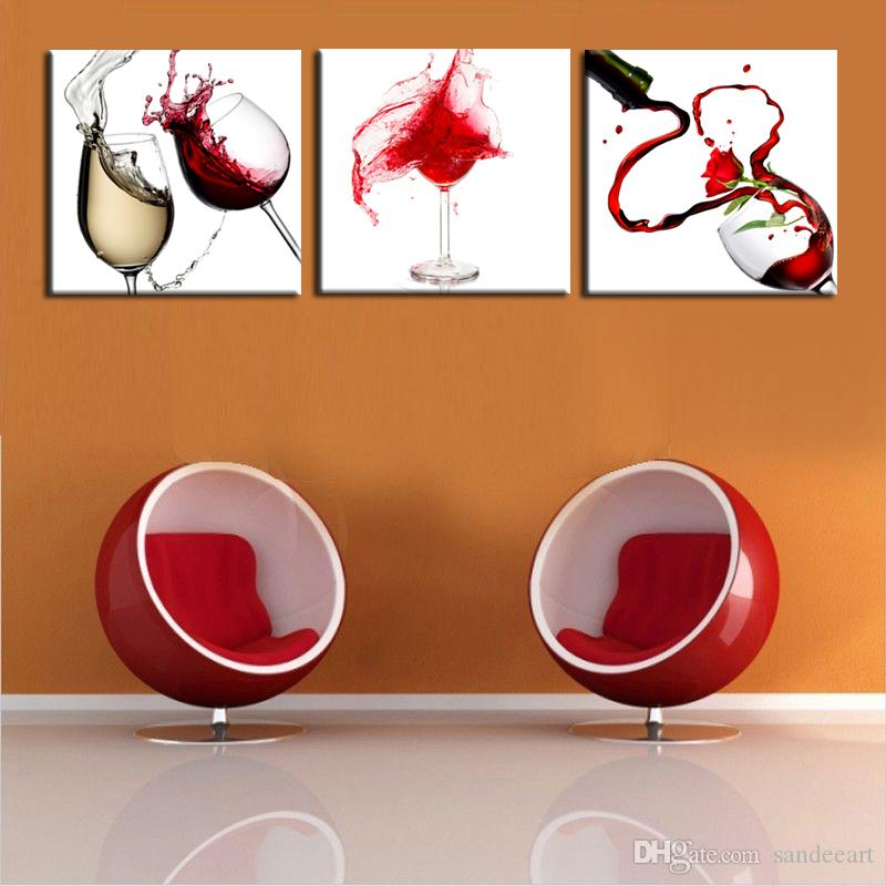 Abstract Giclee Red Wine Glass Canvas Print Painting Art Picture Home Art Decor