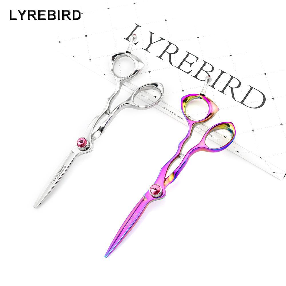 5.5 PULGADAS Tijeras profesionales para cortar el cabello Tijeras plateadas Rainbow Japan Pink Lyrebird HIGH CLASS 10PCS / LOT NEW