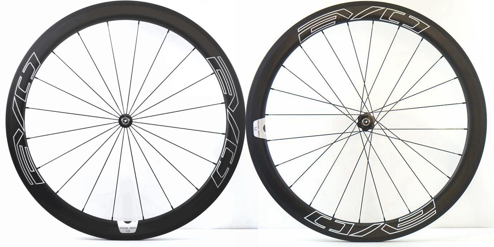700C 50mm Profundidade Rodoviária Bike Rodas de Carbono 25mm Largura Clincher / Bicicleta Tubular Super Light Aero Wheelset