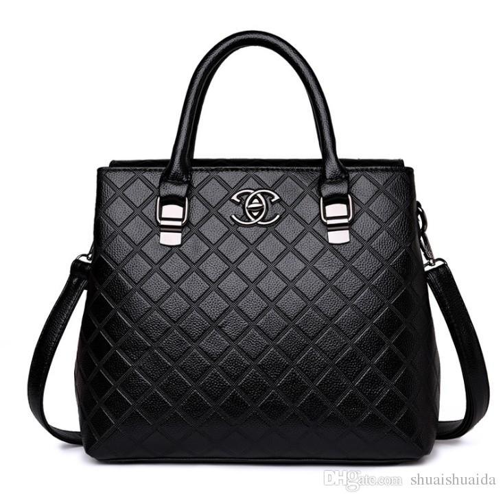Totes Women Handbags Casual Fashion Ladies PU Bag Bag Cross 2018 Bolsos High Big Designer Hombro Bolsas de Compras Bolsa de cuerpo Mom's B URWO