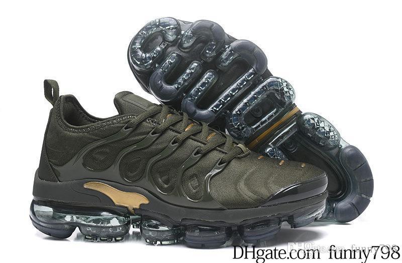 size 40 9af07 db205 Nike Vapormax TN PLUS air TN Plus Hombre Mujer Zapatillas de running Verde  oliva, plateado