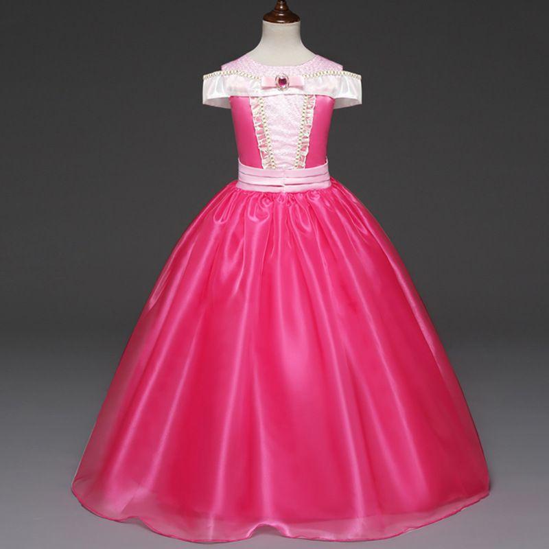 2018 Sleeping Beauty Princess Dress Dzieci Cosplay Sukienka Boże Narodzenie Dziewczyny Odzież Długie Party Suknie Dziewczyny Wydarzenia Kostium