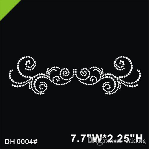 Free shipping Embellish Design Iron On Rhinestone Crystal T-Shirt Transfer by Jubilee Rhinestones DIY DH0004#