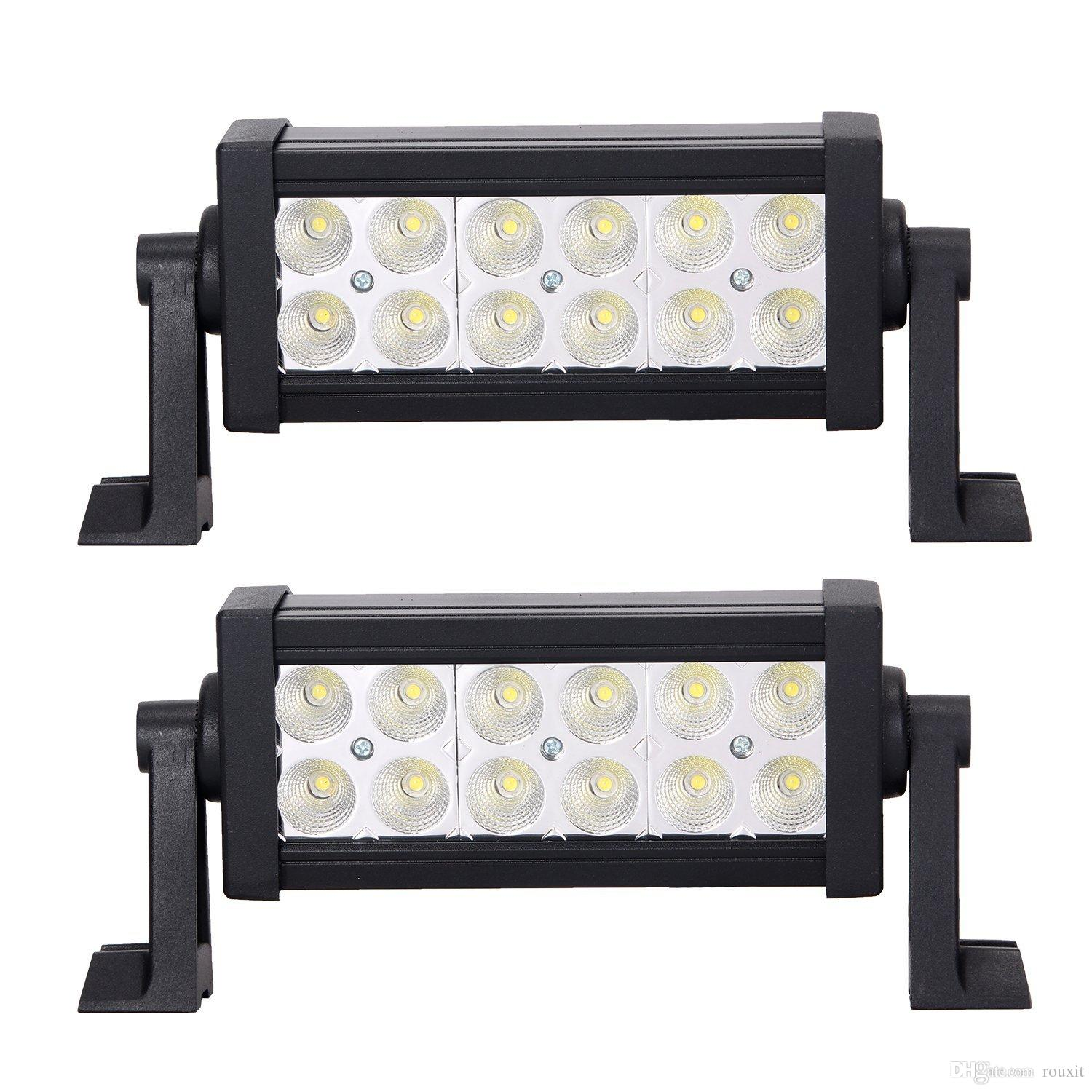 2X 8 Inch 36W OffRoad LED Work Light Bar Flood Spot Beam for Truck 4x4 4WD SUV ATV Automobile Motorcycle 12V Car Styling