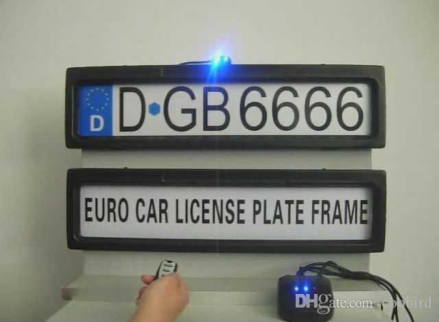الترويج المنتج لوحة ترخيص السيارة الإطار الأوروبي التحكم عن بعد سيارة ترخيص الإطار غطاء / خصوصية لوحة التلقائي (اليورو وروسيا الحجم)