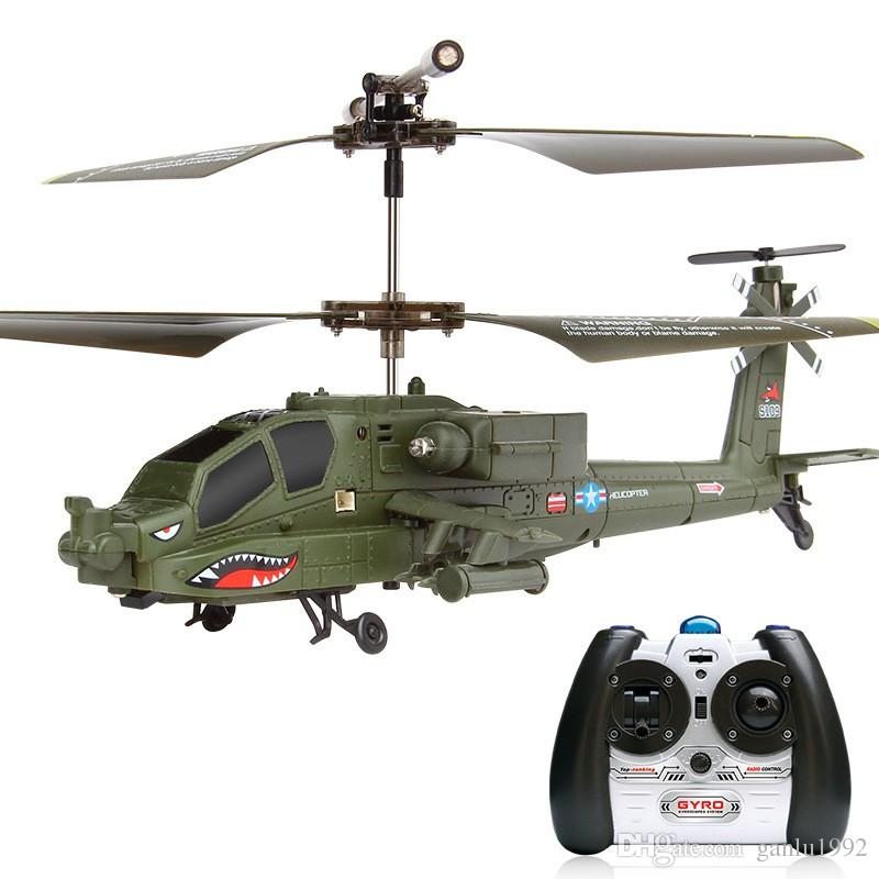Newest RC Helicopter SYMA S109G 3CH Simulation Apache Drone Radio Remote Control Military Airplane Model Novelty KId Toys Gift 84pp YY