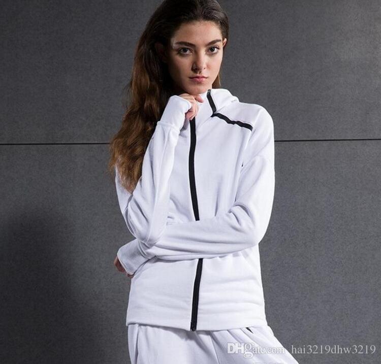 0ad88bf9c229d ... ZNE orijinalleri logosu Kazak erkekler kadınlar Katı Renk Hoodies Rahat  Yan Fermuar severler spor Takım Elbise ...