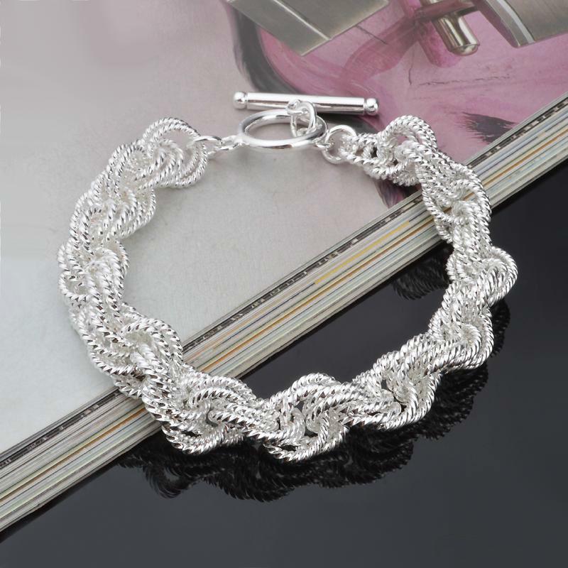 Düğün Kadınlar Takı erkekler için Yüksek kalite düşük fiyat 925 gümüş bilezik Yüksek dereceli gümüş bilezik takılar bilezik