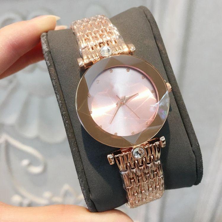 2018 Üst Marka Lüks İzle Kadınlar Siyah Tasarımcı Elmas Saatler Toptan Yüksek Kalite Kadın Lady Elbise Gül Altın Saat Reloj Mujer Kuvars