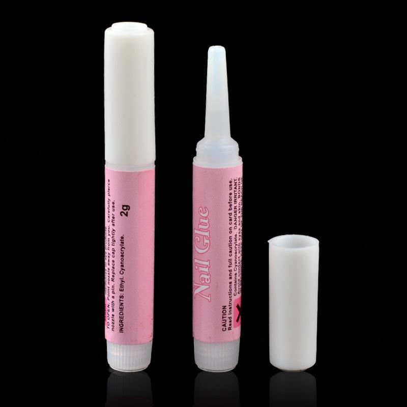 Beauty Nail colla per falso in arte decorano acrilico Strass 2g qualità colla del chiodo punte decorazione di arte