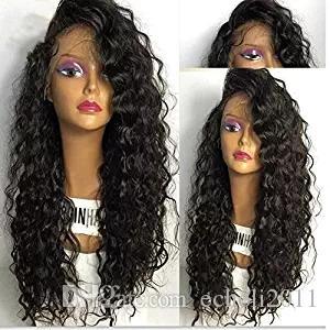 Dantel Ön İnsan Saç Peruk Derin Dalga Kıvırmak Tam Dantel İnsan Saç Peruk Siyah Kadınlar Için Ön Koparıp 150% Brezilyalı Dantel Ön Peruk