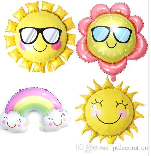 Emoji Foil Balloon Cool Sun Glasses Hip Smiling Helium Sunglasses Decoration