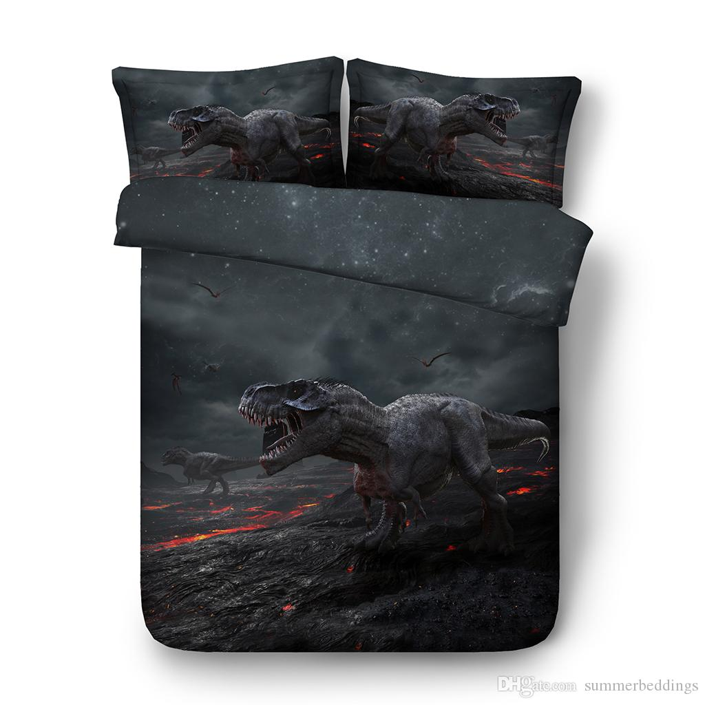 3D cool Duvet Cover Animal Dinosaur Bedding Sets Bedspreads Holiday Quilt Covers Bed Linen Pillow Covers bedlinens twin full queen king