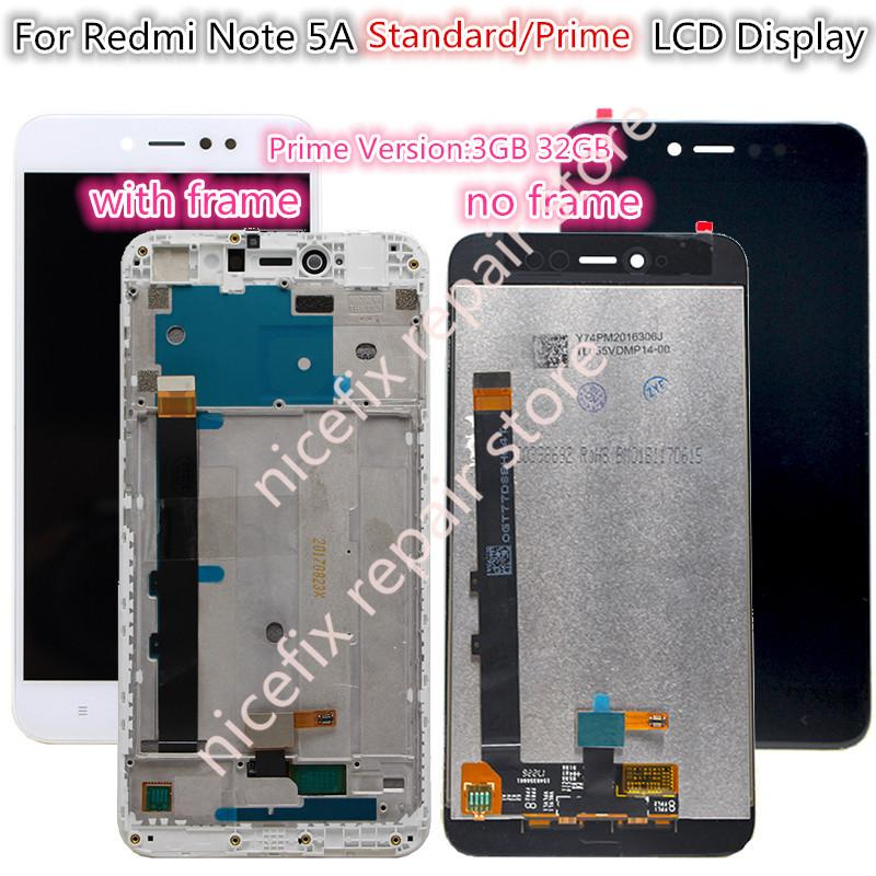wholesale Redmi Note 5A LCD Display Touch Screen Digitizer Assembly+frame Replacement For xiaomi NotE 5a prime/pro Y1 Y1 lite