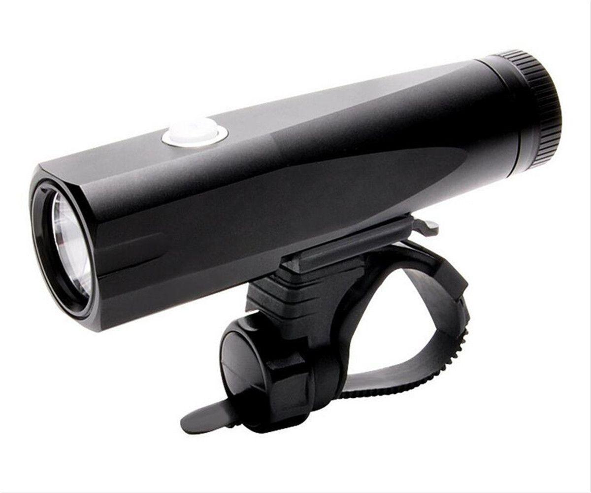 USB recargable bicicleta luz 800LM MTB seguridad linterna LED bicicleta manillar luces delanteras Luces + soporte titular ciclo accesorios