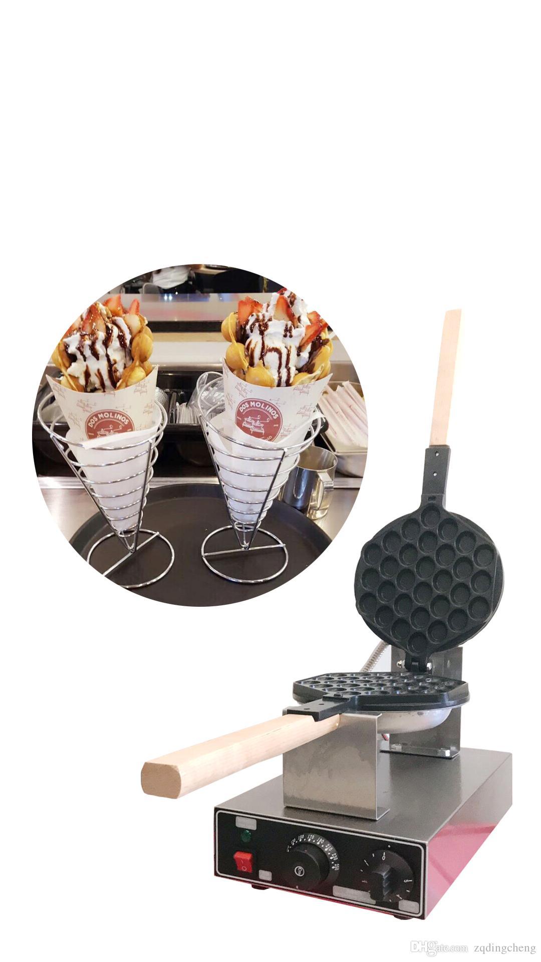 Gratis frakt ~ Köp maskin Få 6 presenter !! Högkvalitativ ny Kina Design Electric Egg Waffle Maker