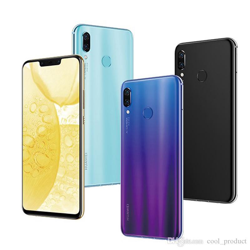 "Original Huawei Nova 3 4G LTE Cell Phone 6GB RAM 64GB 128GB ROM Kirin 970 Octa Core Android 6.3"" Full Screen 24MP Face ID Smart Mobile Phone"