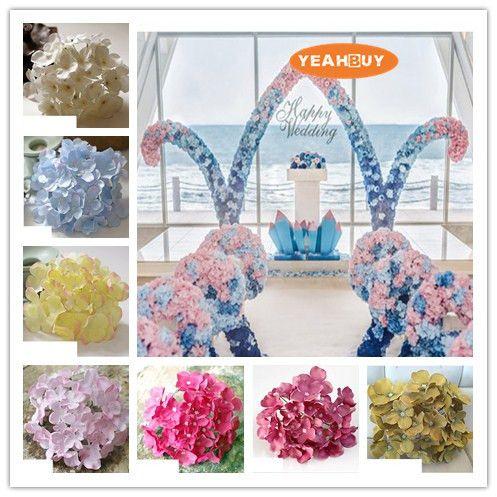 2021 15cm Artificial Hydrangea Silk Flower Head For Diy Wedding Wall Arch Stage Background Flower Bouquet Decoration Accessory Props From Wonderlandonline 30 32 Dhgate Com