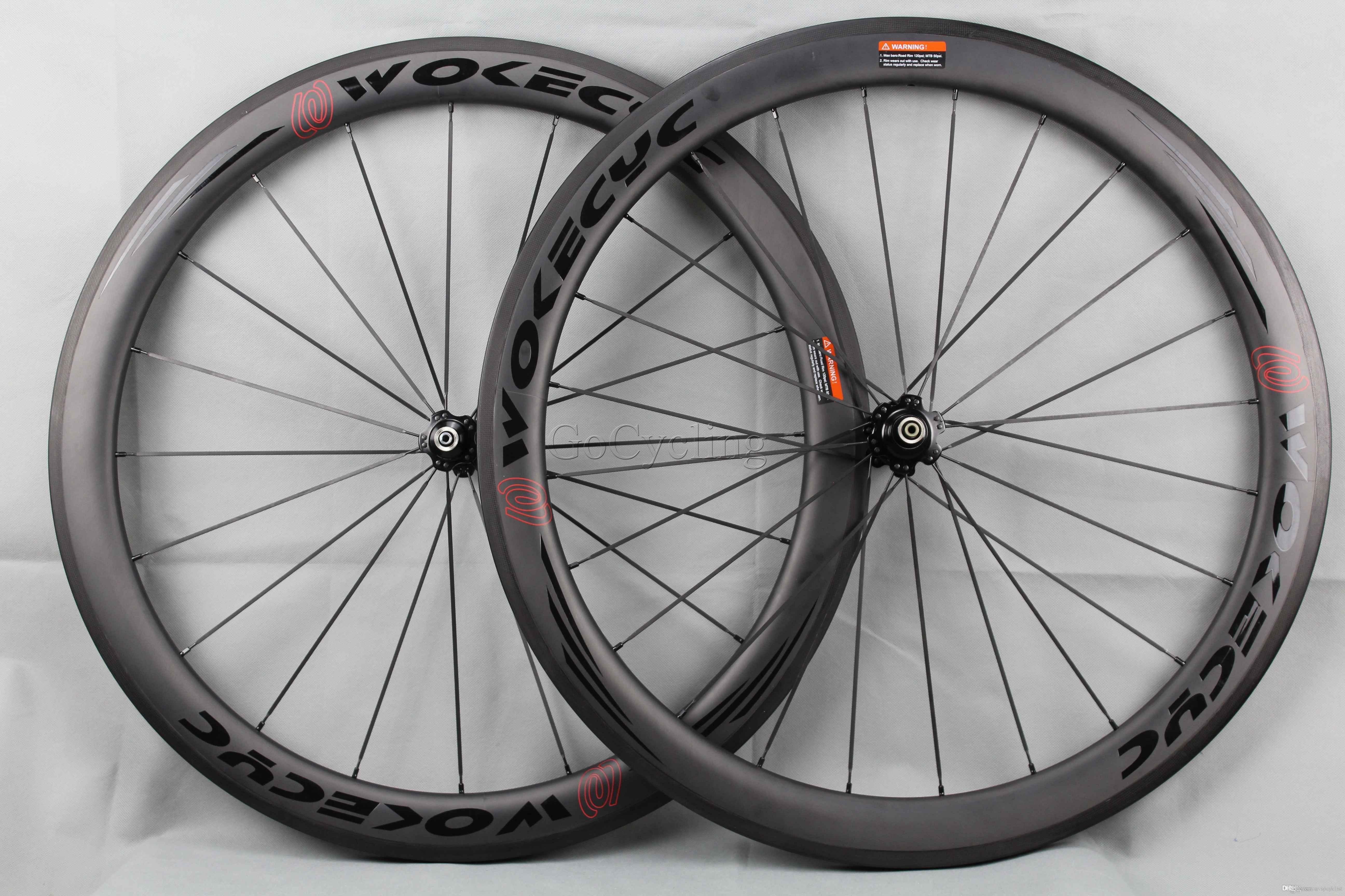 탄소 섬유 도로 자전거 바퀴 50mm clincher 관형 경주 자전거 바퀴 700c 탄소 자전거 바퀴 세트 BOB 현무암 브레이크 표면 폭 25mm
