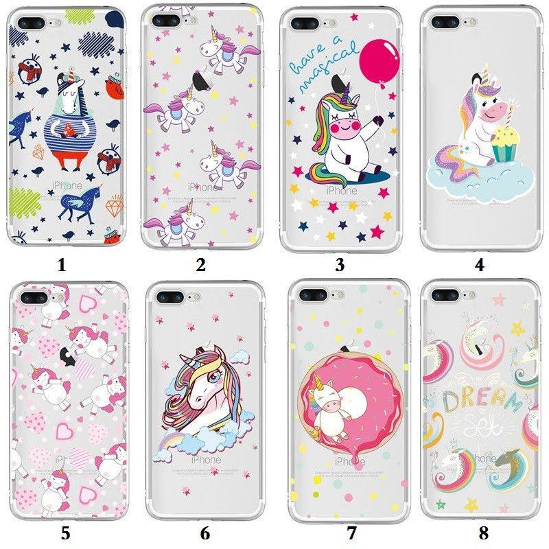 Teste padrão bonito dos desenhos animados unicórnio claro macio tpu phone case para iphone x 8 plus 7 6 s 6 plus 5S samsung s9 plus s9 s8 s7 s6