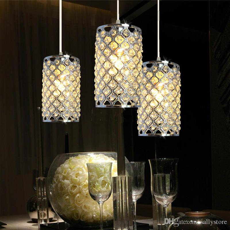 3pcs / set lustres en cristal LED unique moderne lumières des lampes en cristal modernes allée feux de haute puissance AC85-265V
