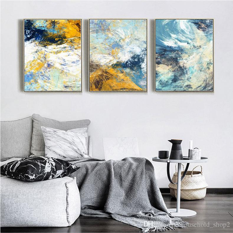 2019 2018 Abstract Canvas Wall Paintings For Living Room Kitchen Room  Decoration Modern Colorful 40*60cm Framed Wall Art Paintings From ...
