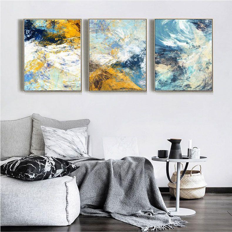 Acheter 2018 Abstrait Toile Peintures Murales Pour Salon Cuisine Salle Décoration Moderne Moderne Coloré 40 60 Cm Encadré Mur Art Peintures De