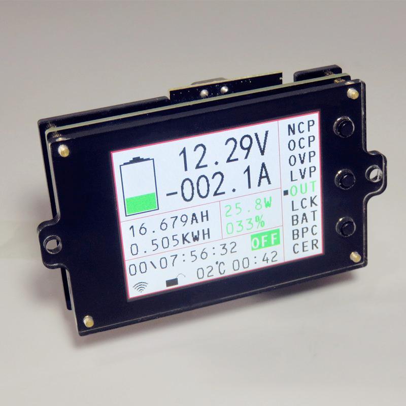 Беспроводной DC 12V Напряжение Амперметр Цифровой Дисплей Двухцветный Дисплей Электрический Батареи Автомобильный Модуль Обнаружения