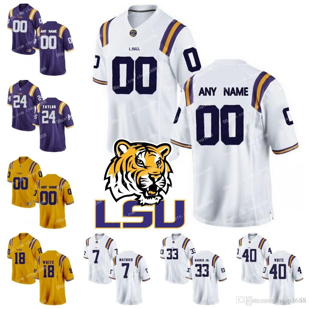 free shipping 2dcf7 c0565 Best Lsu Tigers #1 Eric Reid 11 Spencer Ware 33 Jamal Adams 80 Jarvis  Landry Personalized Custom Any Name Any Number College Football Jersey  Under ...