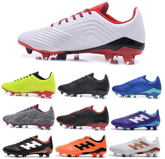 Free Shipping 2018 New Mens Suprefly Soccer Cleats PP Predator 18 FG Soccer Shoes Mens Low Ankle Outdoor Football Boots