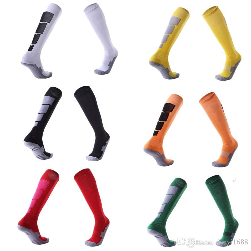 Men Women Sports Professional Football Socks Knee-high Compression towel Wear-resisting Breathable Leggings stocking Soccer basketball Sock